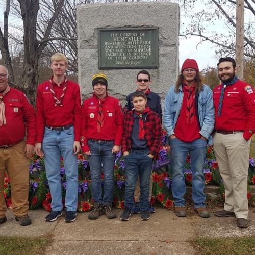 Scouts Canada Members of 2nd Berwick Company and Crew at the Remembrance Day service