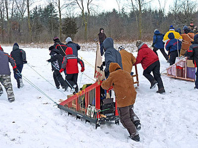 Scouts Canada Boy Scouts at Camp Lakota: 2012 Sled Race