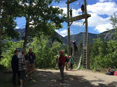 Scouts Canada Ziplining with Chinook Council Camps