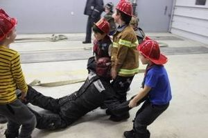 Beavers Learn About Teamwork in Local Fire Department