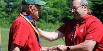 Scouter Elwood Addison Honoured for 60 Years of Service in Scouting