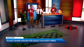 Scouts Canada educates kids about concussion safety
