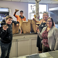 'A true way of giving': Scouts harvest potatoes for needy.