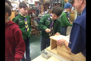 Scouts build wood duck nesting boxes to help improve wildlife habitat