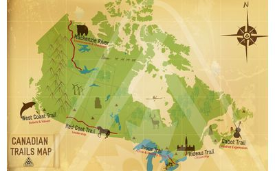 Canadian Trails Map