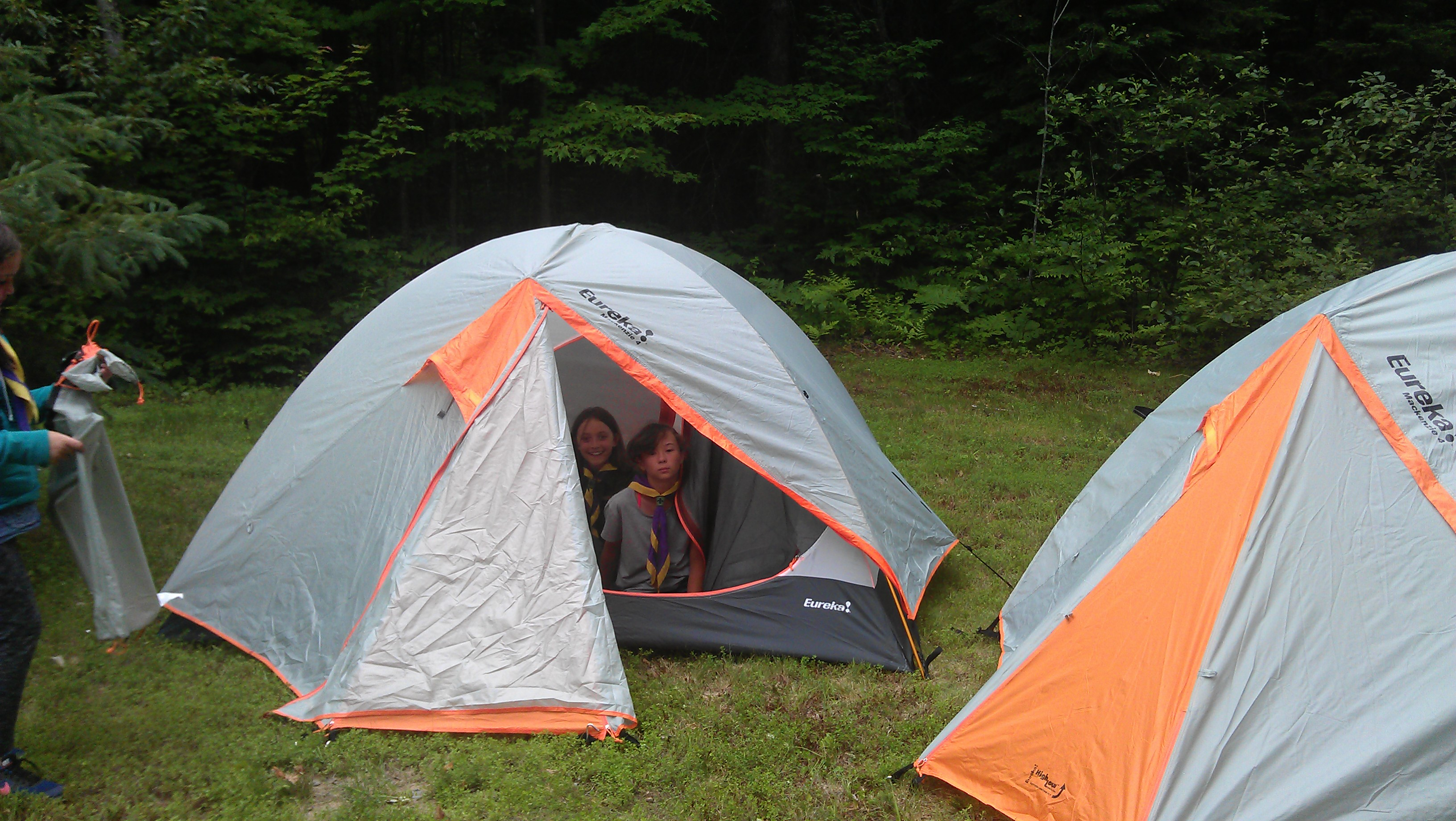The tents are rated for four people. We find that three youth and equipment at a standing c& is ideal. On a canoe trip there is plenty of space for four ... & Equipment Review: Eureka MacKenzie 4 Tent | Scouting Life ...