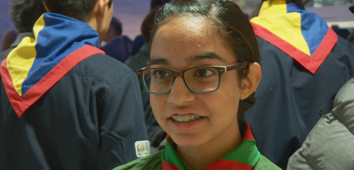 Nurin Amlani, 13, was presented with a Chief Scout Award