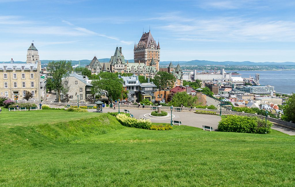 View of old town in Quebec City