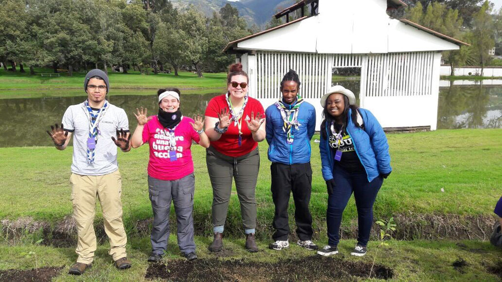 As Youth Leaders, we are the mentors of future generations - Tree planting