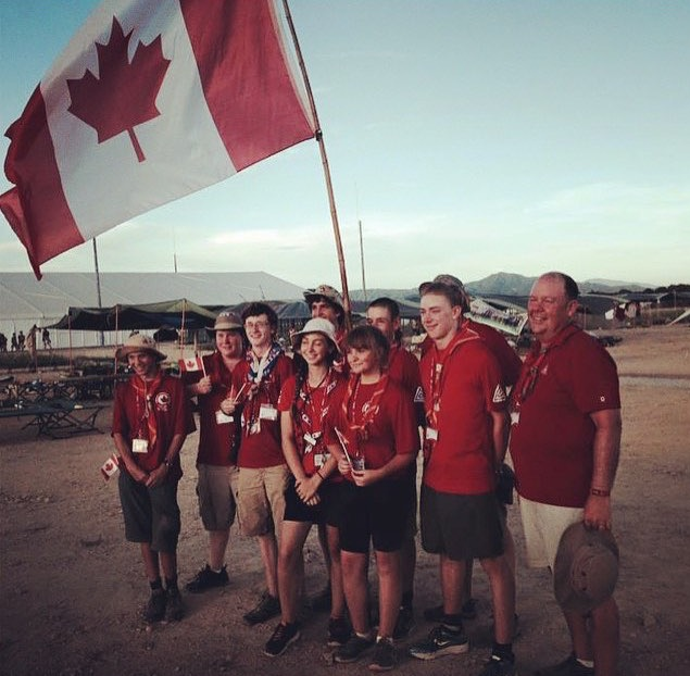 Canadian Contingent at World Jamboree in Japan