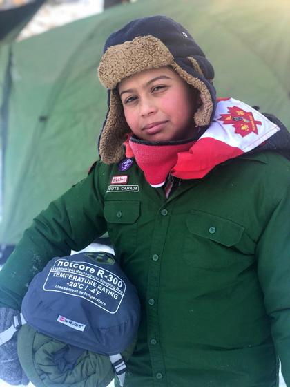 Vivian, Youth Spokesperson and Scout